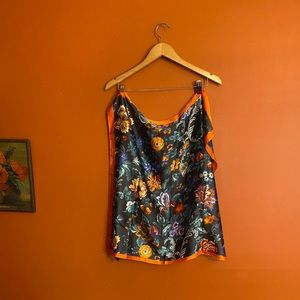Vintage Saks Fifth Ave floral fall scarf